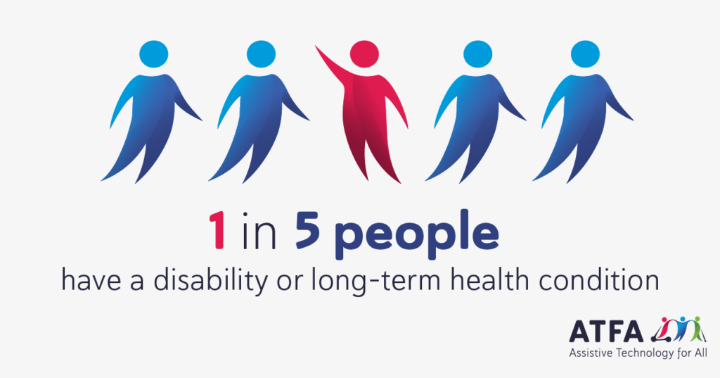 Infographic: 1 in 5 people have a disability or long-term health condition.